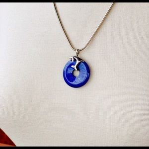 Jewelry - Vintage Hawaiian sterling silver & lapis dolphin